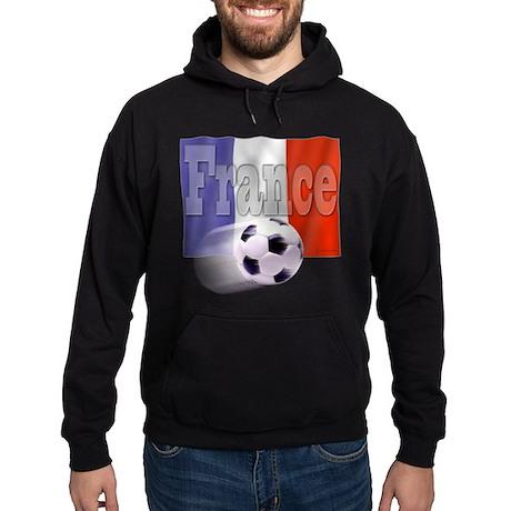 Soccer Flag France (B) Hoodie (dark)