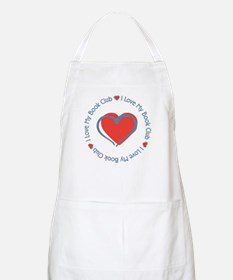 I Love My Book Club BBQ Apron