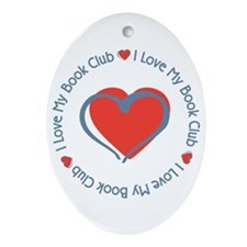 I Love My Book Club Oval Ornament