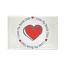 I Love My Book Club Rectangle Magnet (100 pack)