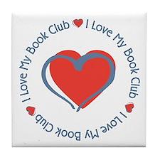 I Love My Book Club Tile Coaster