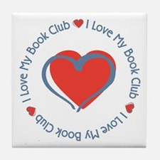 I Love My Book Club Tile Coaster