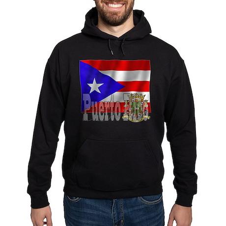 Silky Flag Puerto Rico Hoodie (dark)