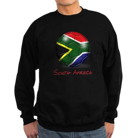 South Africa Flag Soccer Ball Sweatshirt (dark)