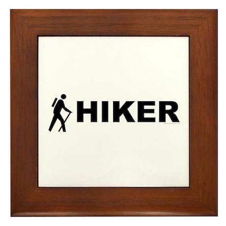 Hiker Symbol Framed Tile