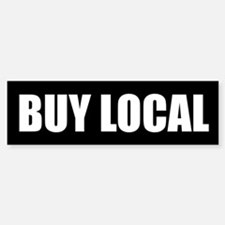 Buy Local Bumper Car Car Sticker