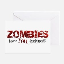 ZOMBIES: have you prepared? Greeting Card