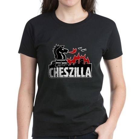 Chess Zilla 2 Women's Dark T-Shirt