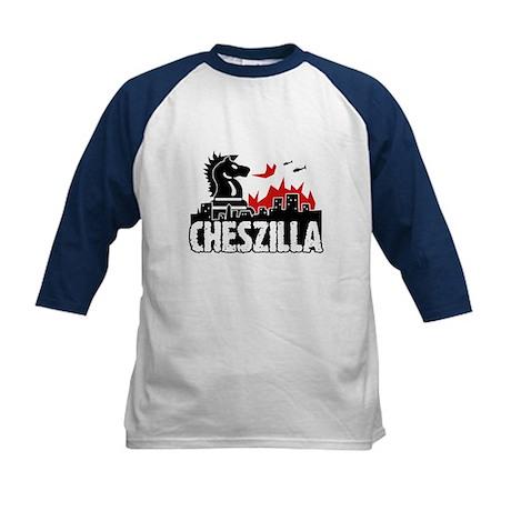 Chess Zilla 2 Kids Baseball Jersey