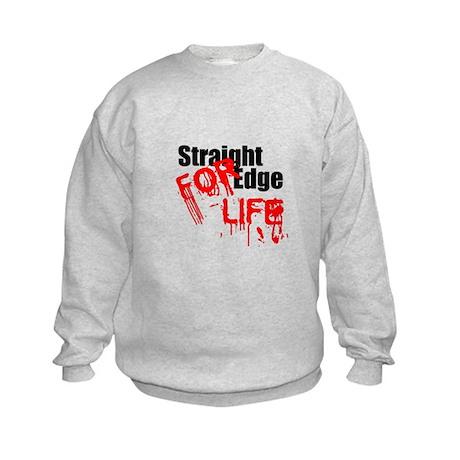 Straight Edge For Life Kids Sweatshirt