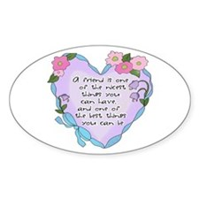 Friendship Heart 1 Oval Decal