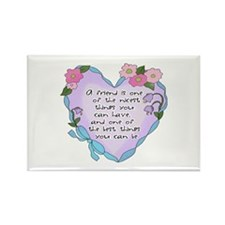 Friendship Heart 1 Rectangle Magnet (100 pack)