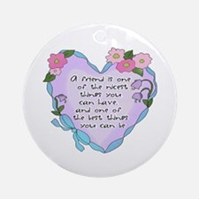 Friendship Heart 1 Ornament (Round)