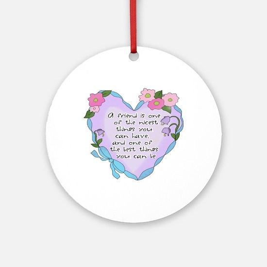 Friendship Heart 1 Ornament (Round)