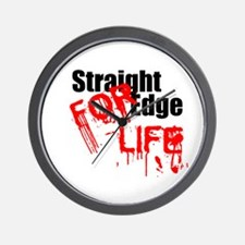 Straight Edge For Life Wall Clock