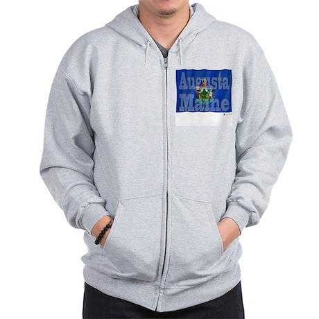 Augusta, Maine Zip Hoodie