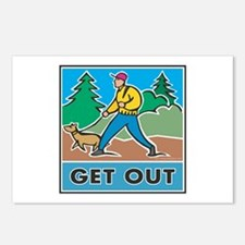 Get Outdoors Postcards (Package of 8)