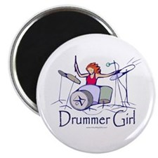 Drummer Girl Magnet