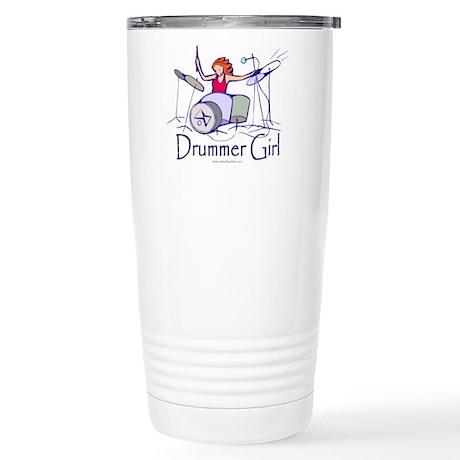 Drummer Girl Stainless Steel Travel Mug