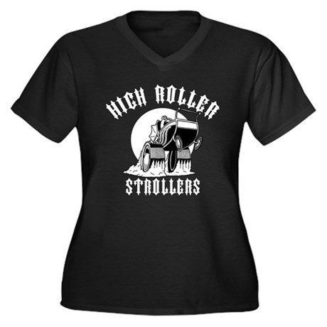 High Roller Strollers Women's Plus Size V-Neck Dar