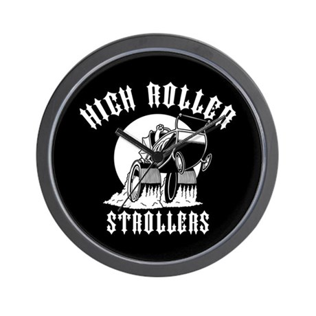 High Roller Strollers Wall Clock