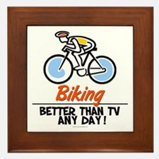 Biking Framed Tile
