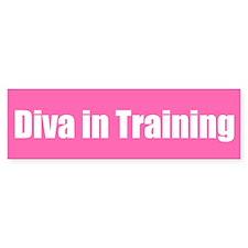 Diva in Training Bumper Bumper Sticker