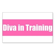 Diva in Training Rectangle Decal