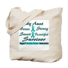 Ovarian Aunt Words Tote Bag