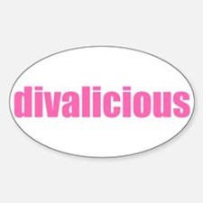 divalicious Oval Decal