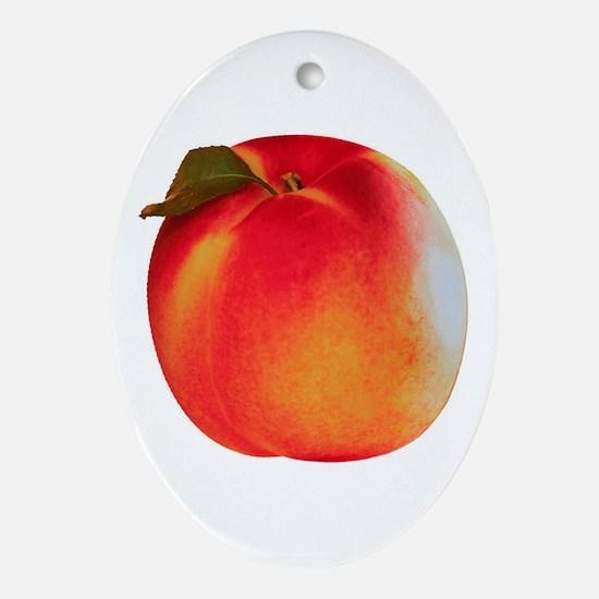 Atlanta Peach Oval Ornament