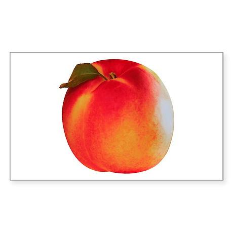 Atlanta Peach Rectangle Sticker