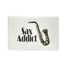 Sax Addict Rectangle Magnet