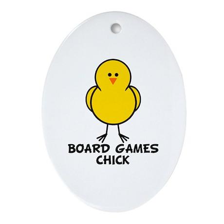 Board Games Chick Oval Ornament