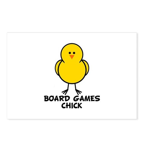 Board Games Chick Postcards (Package of 8)
