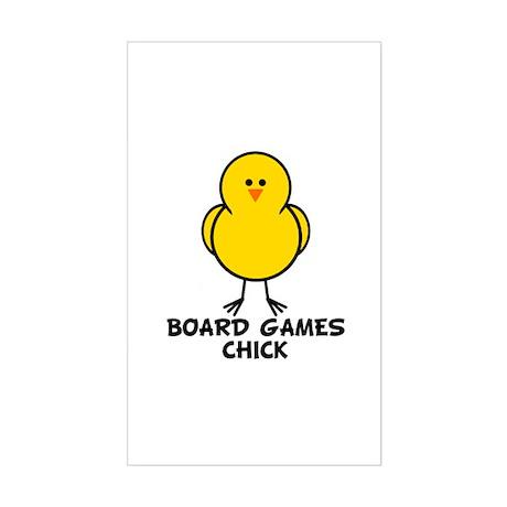 Board Games Chick Rectangle Sticker