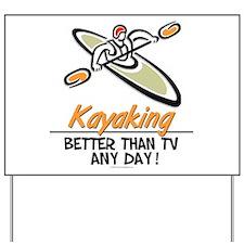 Kayaking Yard Sign