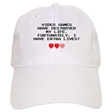 Video Games Have Destroyed My Life Baseball Cap