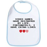 Video Games Have Destroyed My Life Bib