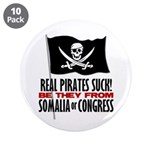 """Real Pirates Suck 3.5"""" Button (10 pack)"""