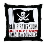 Real Pirates Suck Throw Pillow