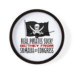 Real Pirates Suck Wall Clock