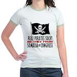 Real Pirates Suck Jr. Ringer T-Shirt