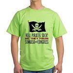 Real Pirates Suck Green T-Shirt