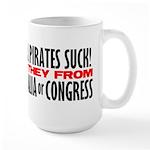 Real Pirates Suck Large Mug