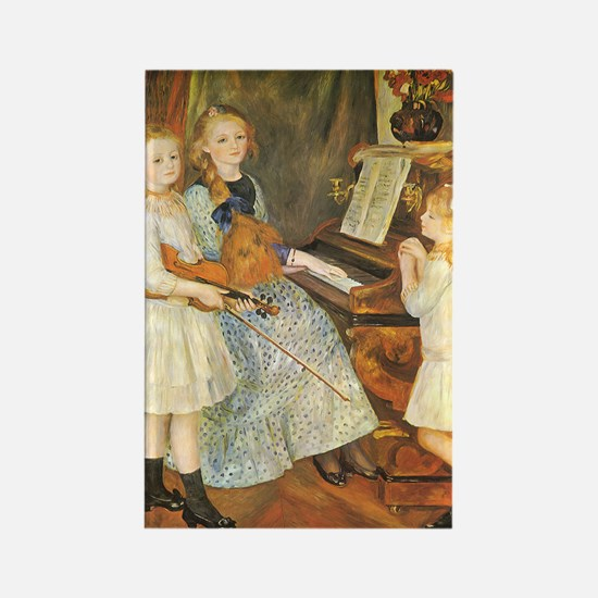Renoir Daughters of Catulle Mendes Rectangle Magne