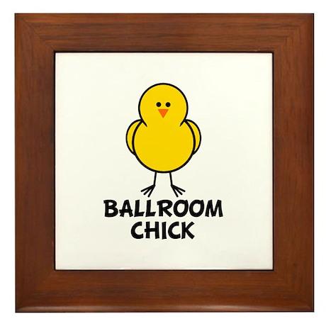 Ballroom Chick Framed Tile