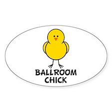 Ballroom Chick Oval Decal