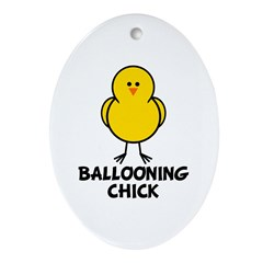 Ballooning Chick Oval Ornament