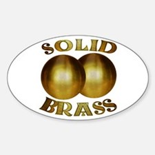 Solid Brass Oval Decal